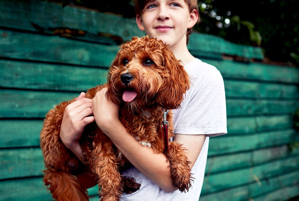 Teenage boy holding a puppy dog (Getty Images)