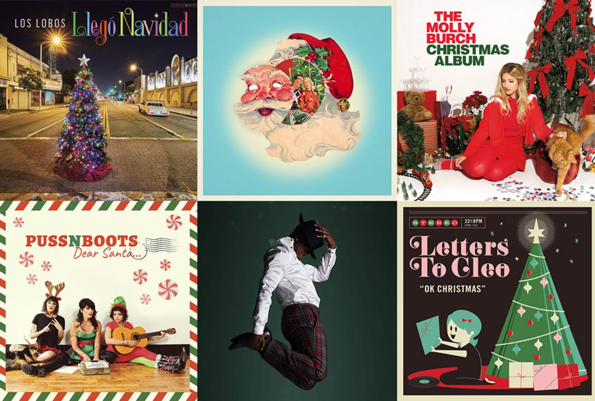 Holiday Albums by: Los Lobos, Regrettes, Molly Burch, Puss N Boots, Ne-Yo, and Letters to Cleo (Dot Rat Records/Rhino Entertainment/Captured Tracks/Motown Records/Compound Entertainment/Blue Note Records/Warner Records)