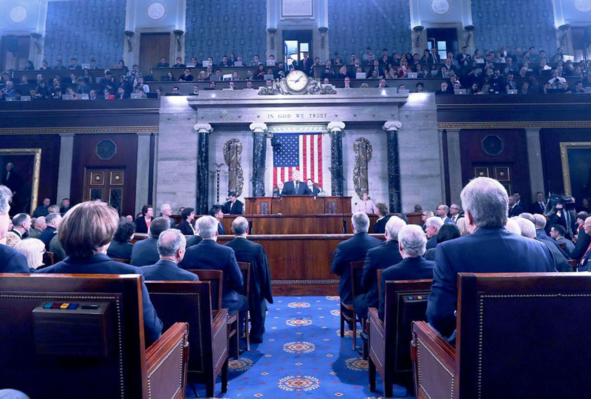 A joint session of Congress from the floor of the House of Representatives in Washington, DC (JIM LO SCALZO/AFP via Getty Images)