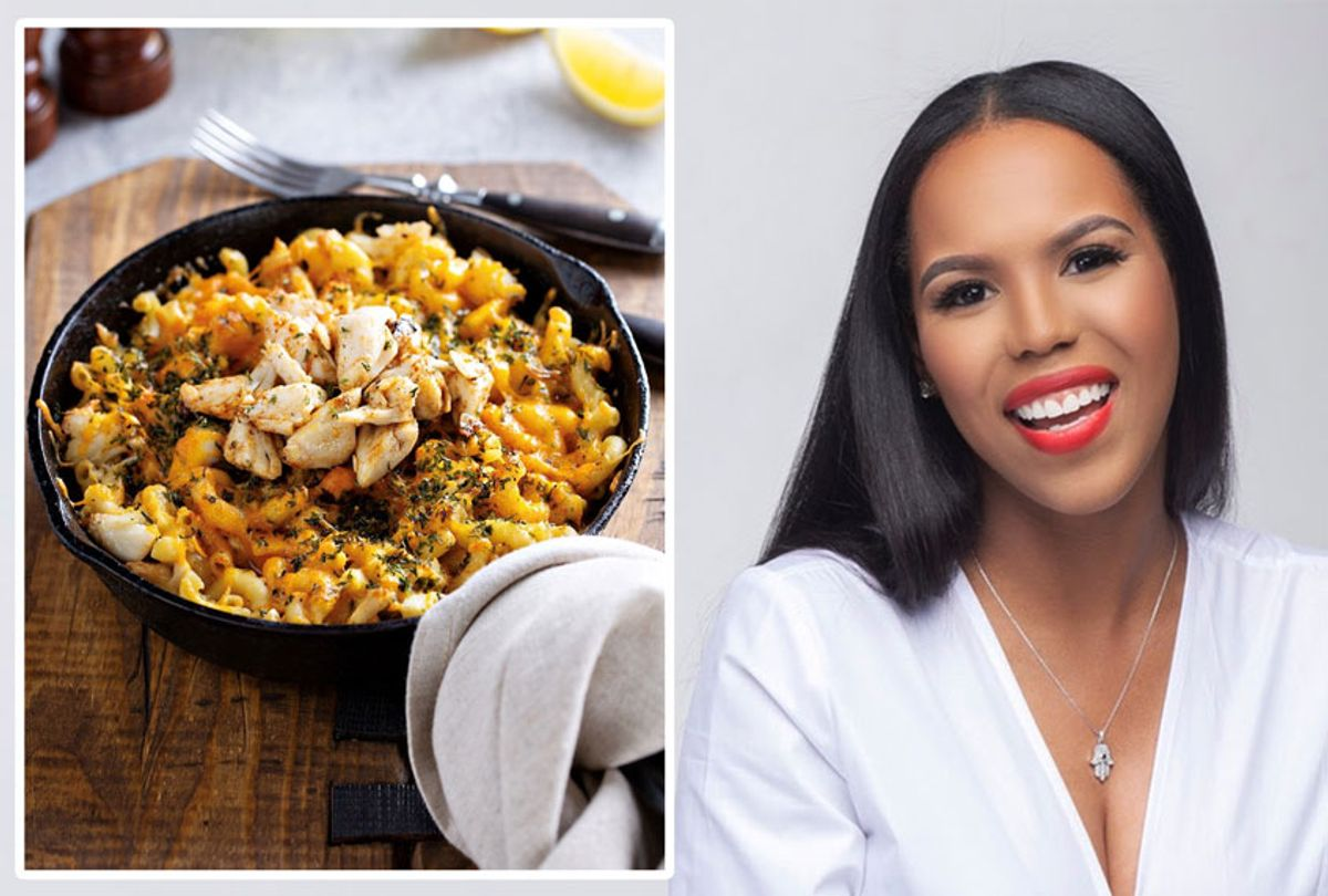 """Kelli Ferrell's cookbook """"Kooking with Kelli"""" and her recipe for Crab Mac-n-Cheese (Cory Reese)"""