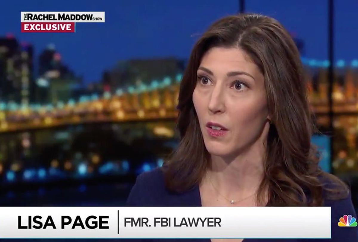 Lisa Page interview with Rachel Maddow  (MSNBC)