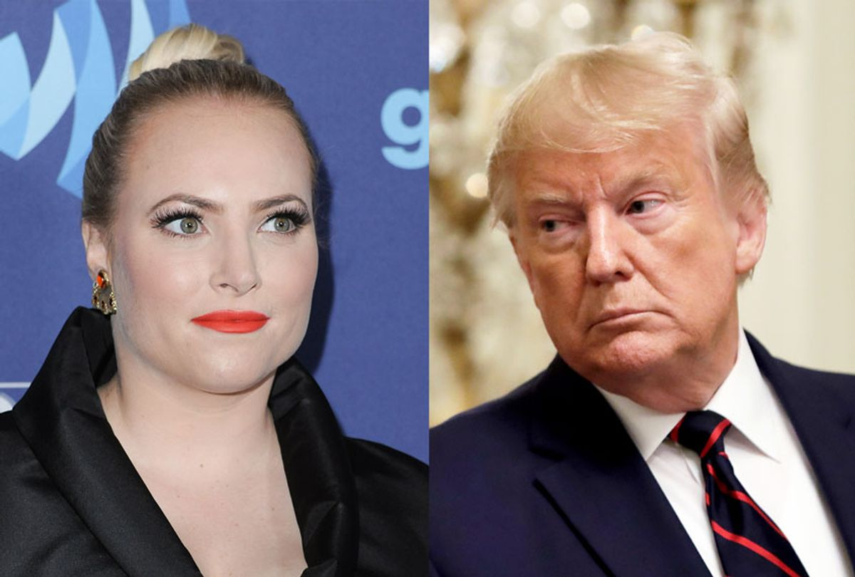 Meghan McCain and Donald Trump (AP Photo/Evan Vucci/Richard Shotwell/Invision/AP)