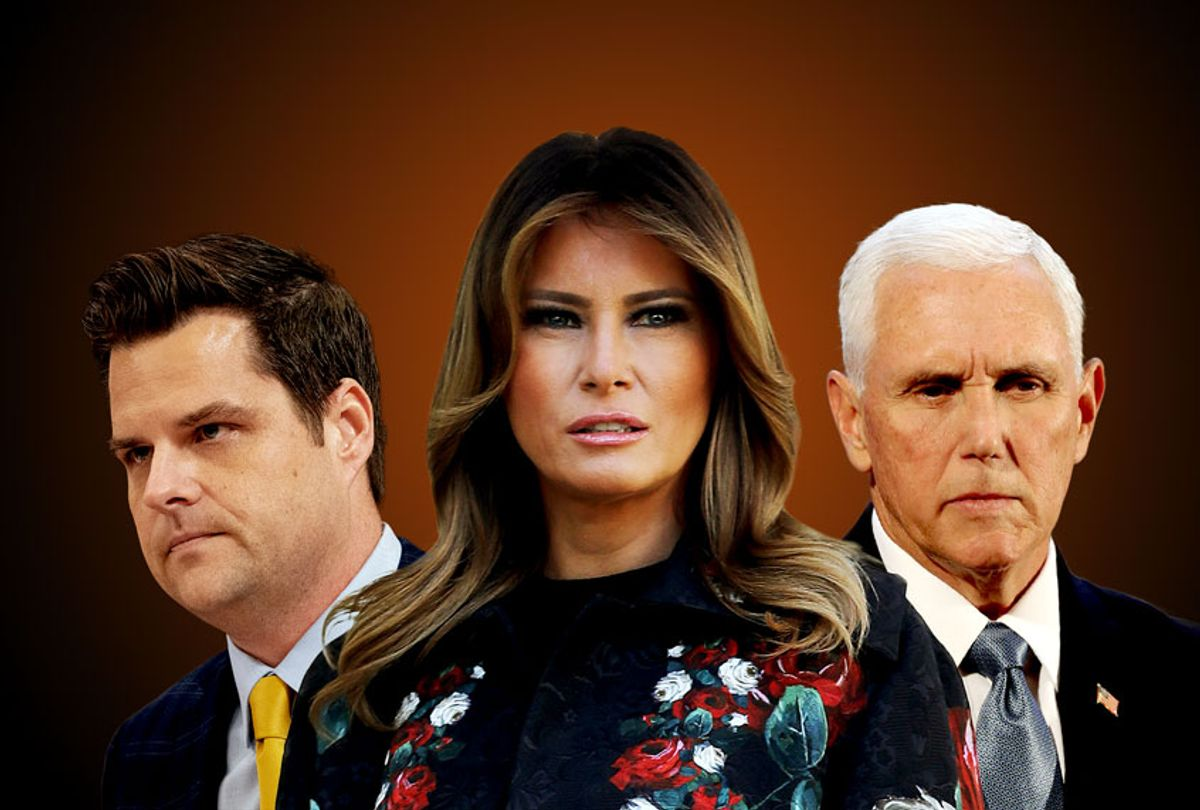 Melania Trump, Matt Gaetz, and Mike Pence (Jeff Malet Photography/Getty Images/Salon)