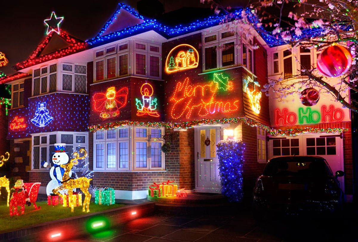 Christmas lights in the American suburbs (Getty Images/Peter Dazeley)