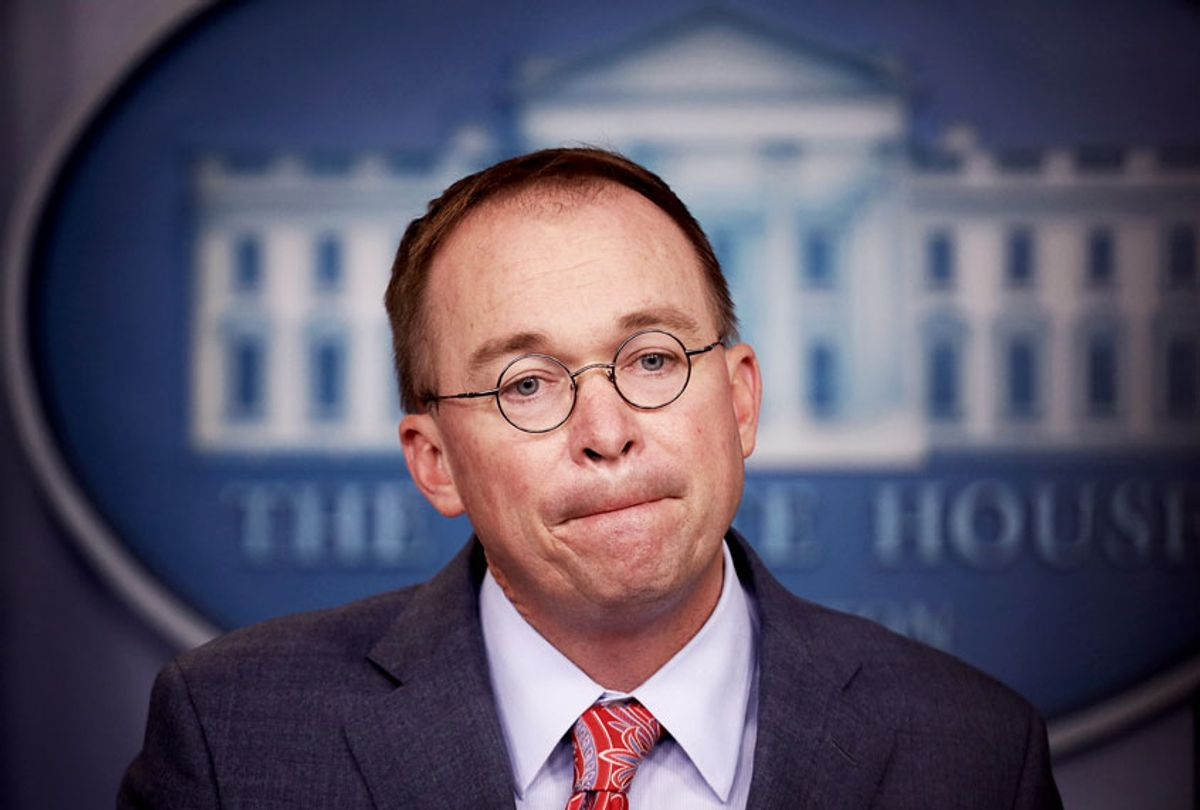 Acting White House Chief of Staff Mick Mulvaney answers questions during a briefing at the White House October 17, 2019 in Washington, DC. Mulvaney answered a range of questions relating to the issues surrounding the impeachment inquiry of U.S. President Donald Trump, and other issues during the briefing.  (Win McNamee/Getty Images)