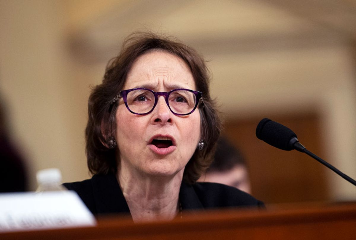 Stanford Law School professor Pamela Karlan testifies during the House Judiciary Committee hearing on the impeachment inquiry of President Trump in Longworth Building on Wednesday Dec. 4, 2019. (Caroline Brehman/CQ-Roll Call, Inc via Getty Images)