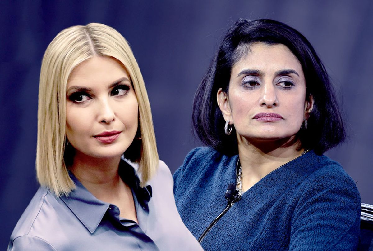 Administrator for the Centers of Medicare & Medicaid Services, Seema Verma, and Ivanka Trump (Steven Ferdman/Drew Angerer/Getty Images)