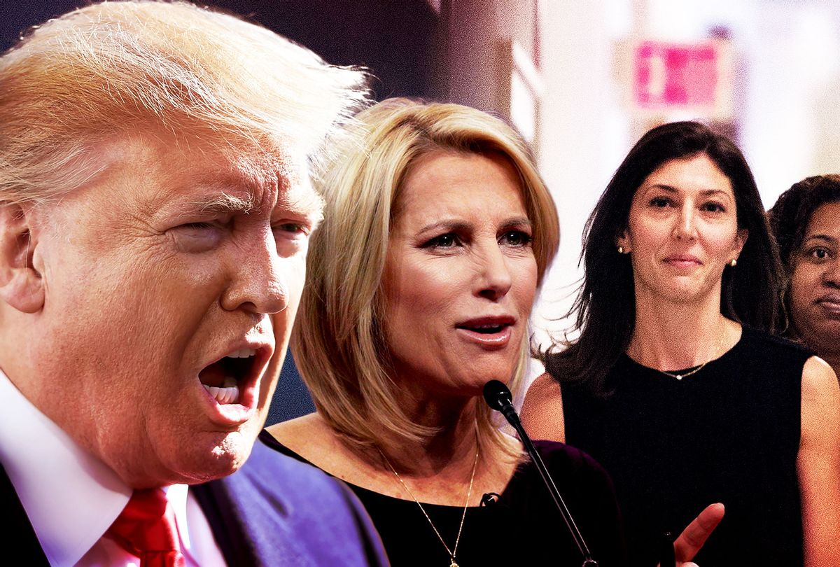 Donald Trump, Laura Ingraham, and Lisa Page (Getty Images/Salon)