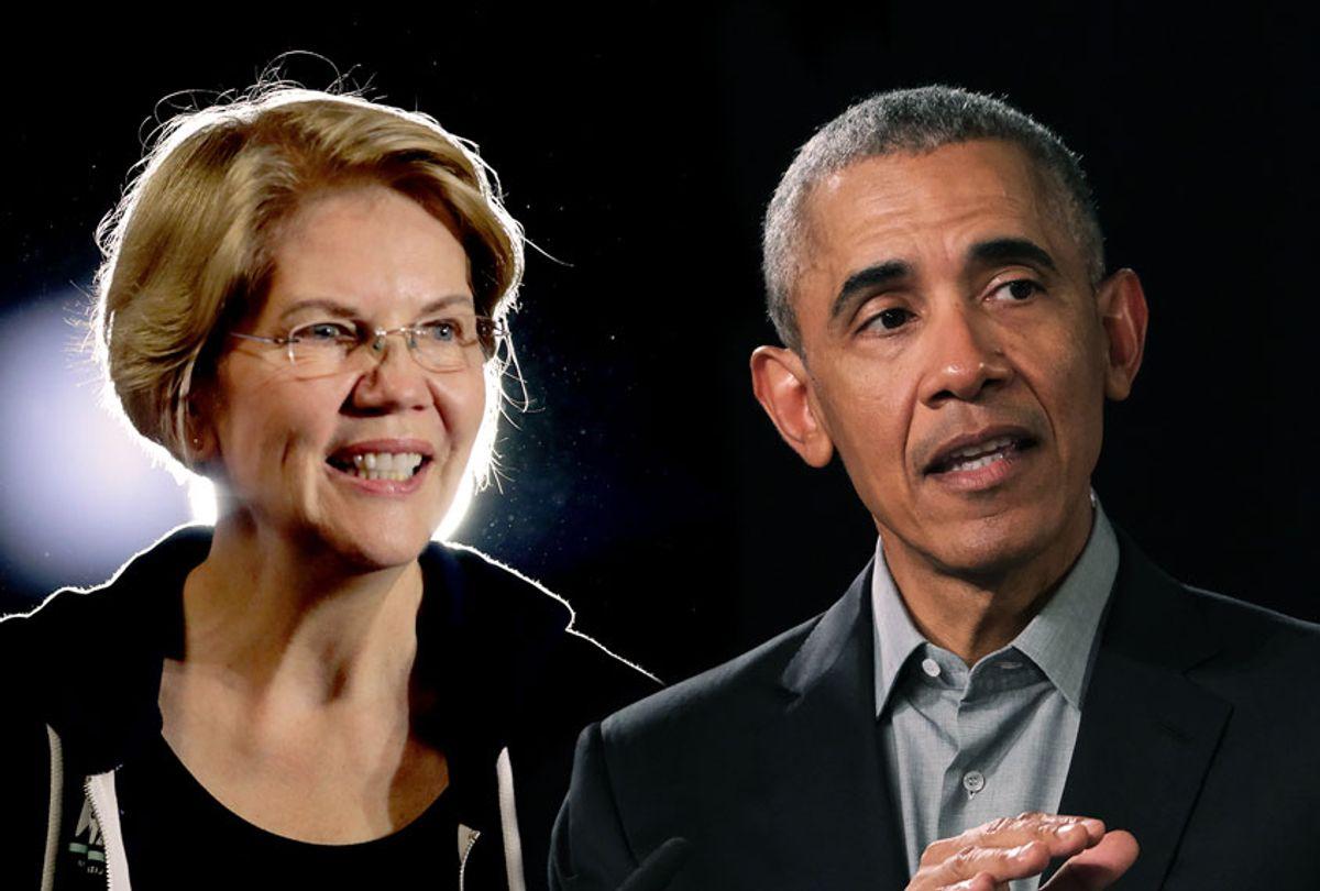 Elizabeth Warren and Barack Obama (Scott Olson/Sean Gallup/Getty Images)