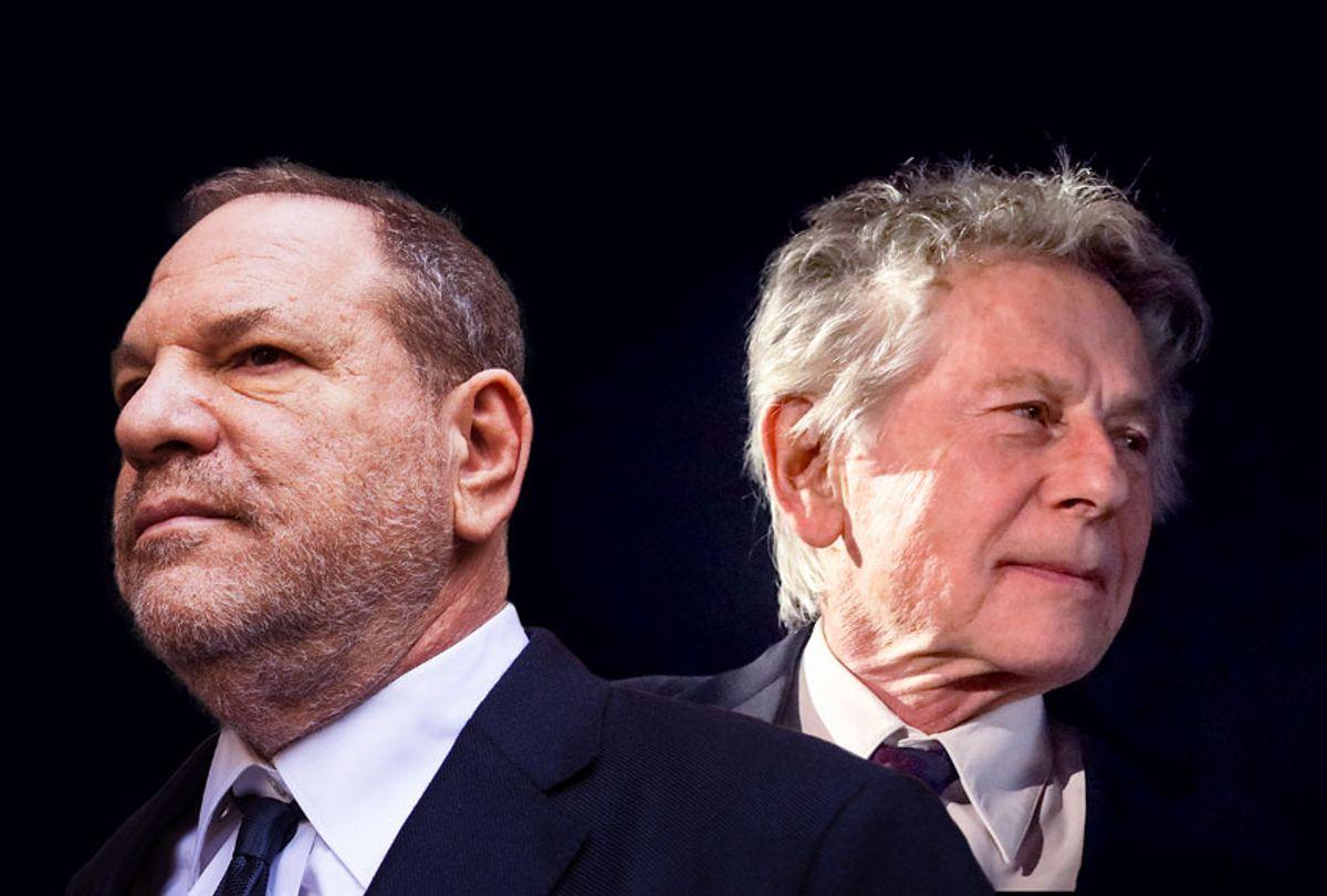 Harvey Weinstein and Roman Polanski (Drew Angerer/Beata Zawrzel/NurPhoto/Getty Images)