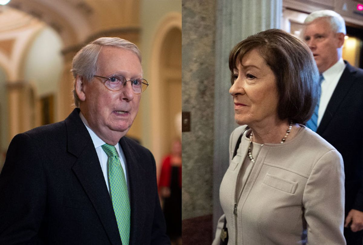 Mitch McConnell and Susan Collins (Getty Images/Salon)