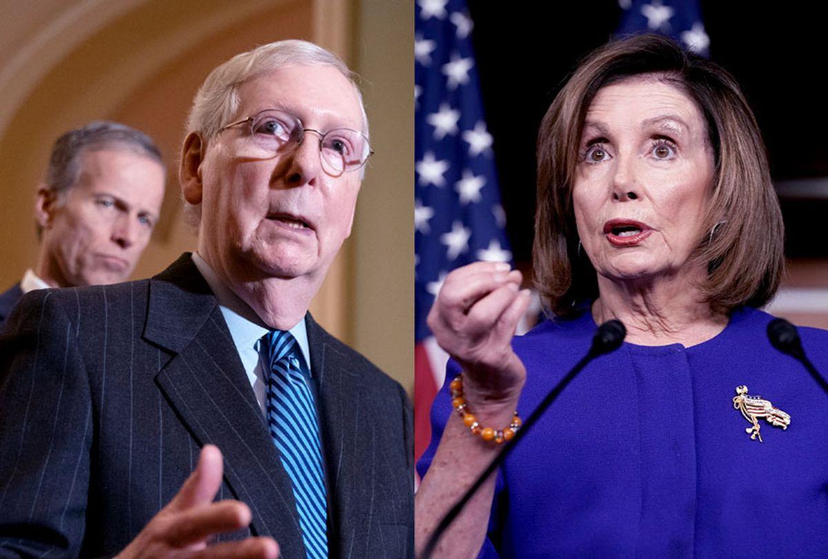 Mitch McConnell and Nancy Pelosi ((AP Photo/J. Scott Applewhite/Salon))