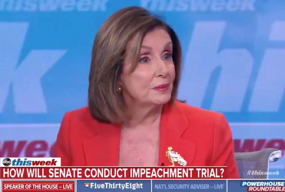 Nancy Pelosi on ABC This Week (ABC)