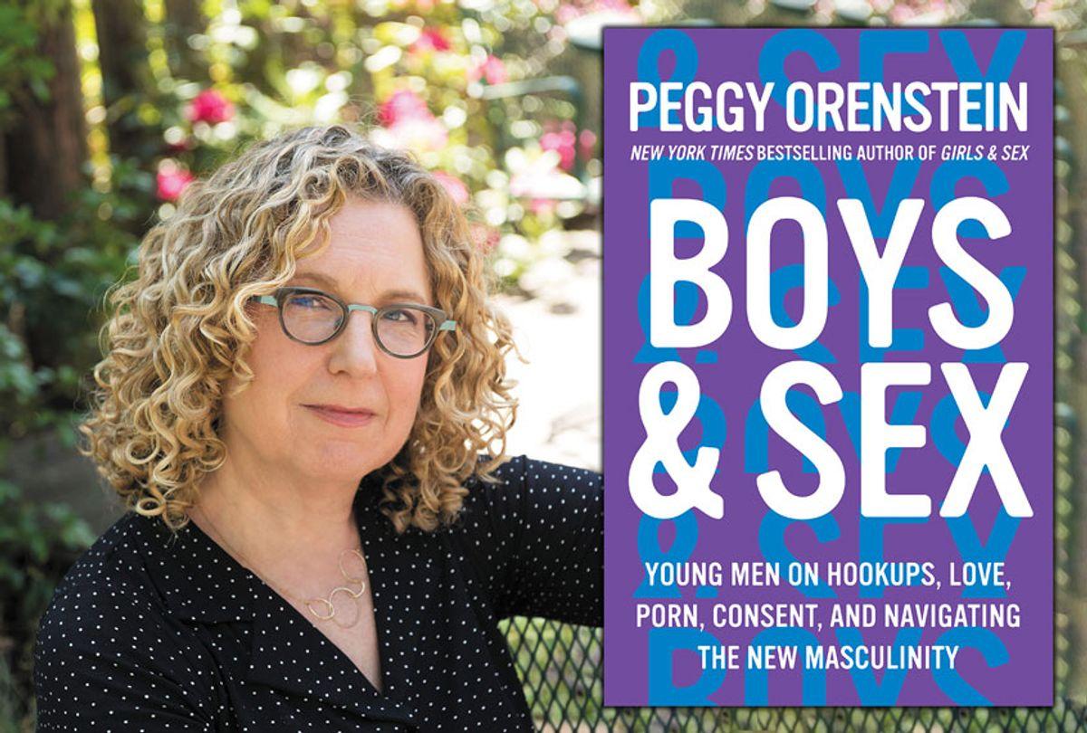 "Author Peggy Orenstein and her book, ""Boys & Sex"" ((Tia & Claire Studio/Harper Collins))"