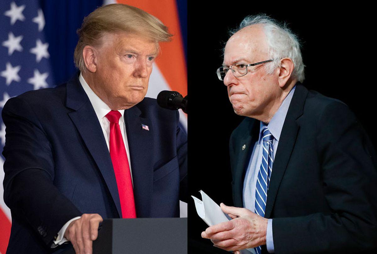 Donald Trump and Bernie Sanders (AP Photo/Salon)