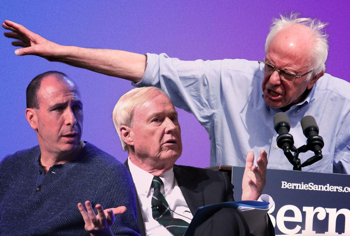 Bernie Sanders VS Chris Matthews and Jonathan Chait (Getty Images/Salon)