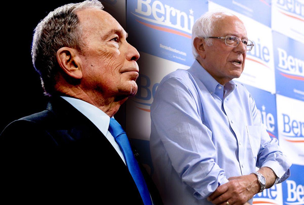 Michael Bloomberg and Bernie Sanders (AP Photo/Getty Images/Salon)