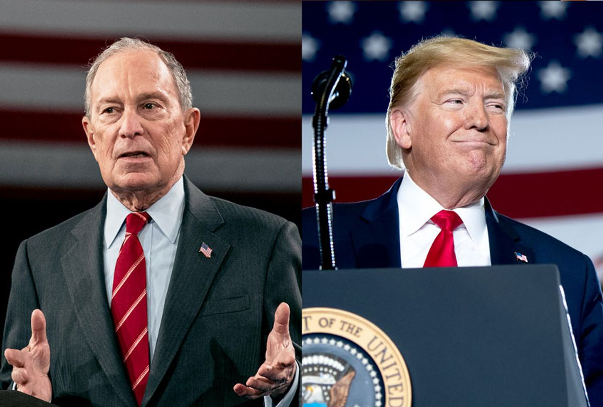 Michael Bloomberg and Donald Trump (Getty Images/Scott Heins/Saul Loeb/AFP)