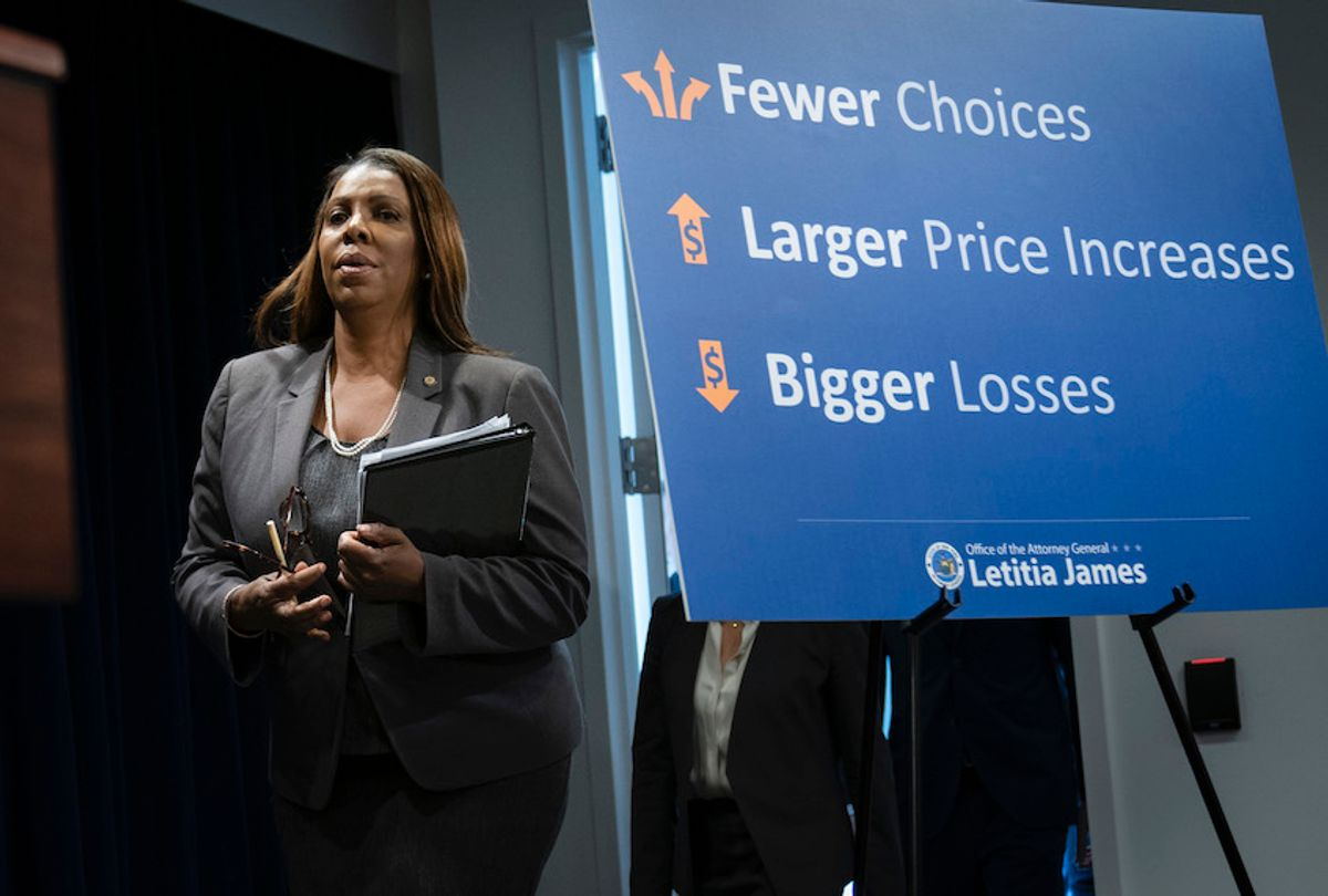 New York Attorney General Letitia James said that the T-Mobile-Sprint merger would deprive customers of the benefits of competition and potentially drive up prices for cellphone service. (Drew Angerer/Getty Images)