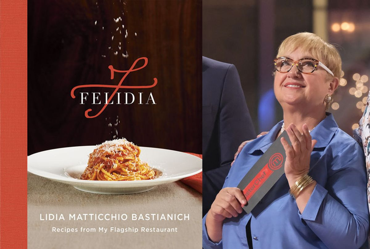 """Chef Lidia Bastianich and her cookbook, """"Felidia"""" (Getty Images/Knopf/Penguin/Salon)"""