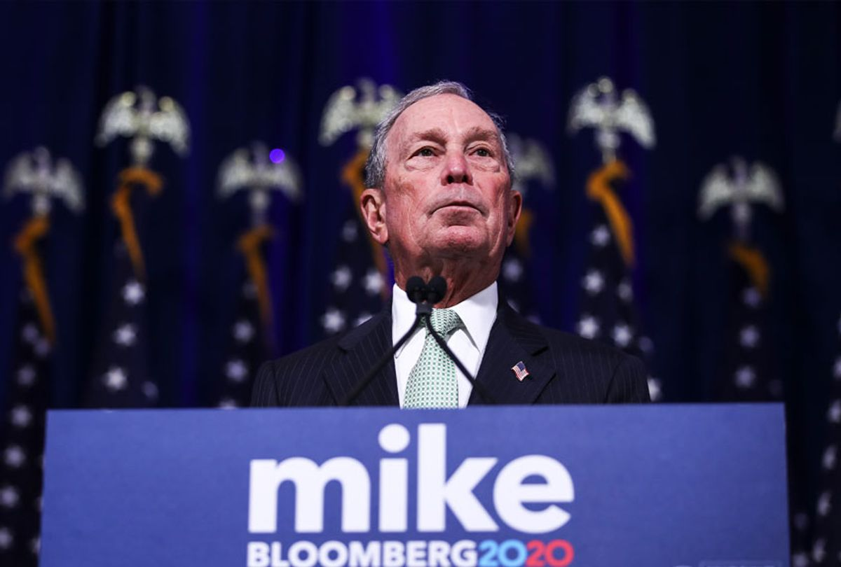 Democratic presidential candidate, former New York Mayor Michael Bloomberg speaks during a press conference to discuss his presidential run. (Drew Angerer/Getty Images)