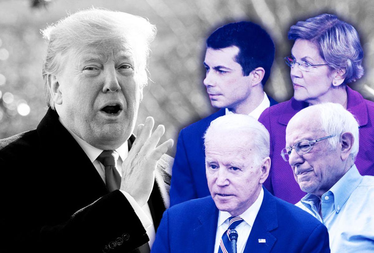 Donald Trump, Bernie Sanders, Joe Biden, Elizabeth Warren, and Pete Buttigieg (AP Photo/Getty Images/Salon)