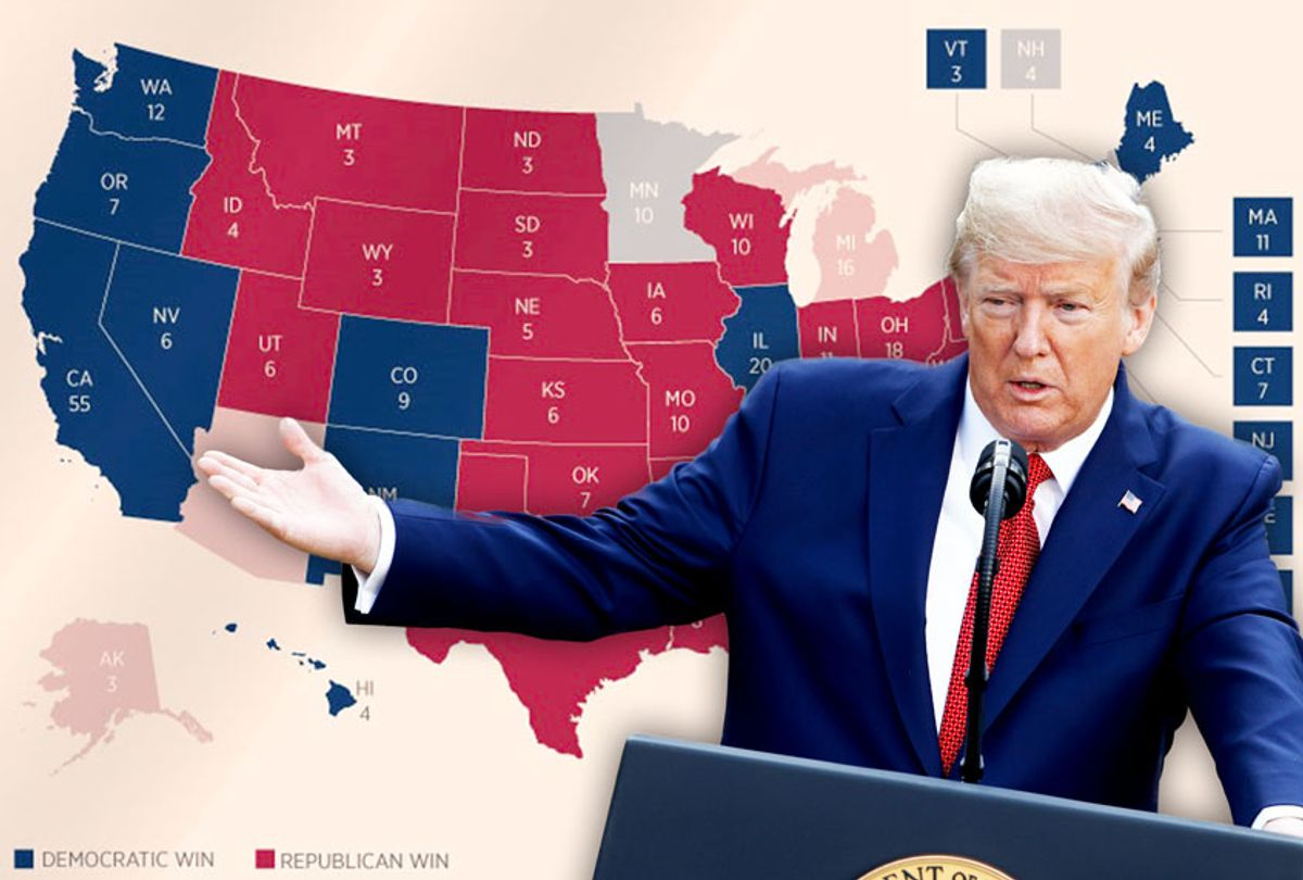 Donald Trump | An Infographic of the Electoral vote breakdown from the 2016 Presidential Election (Getty Images/AP Photo/Salon)