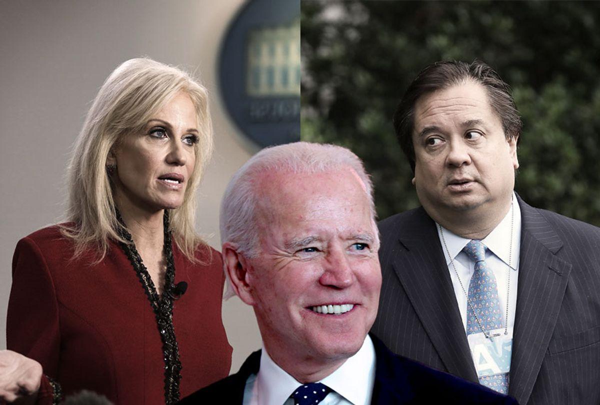 George Conway, Kellyanne Conway and Joe Biden (Getty Images/Salon)