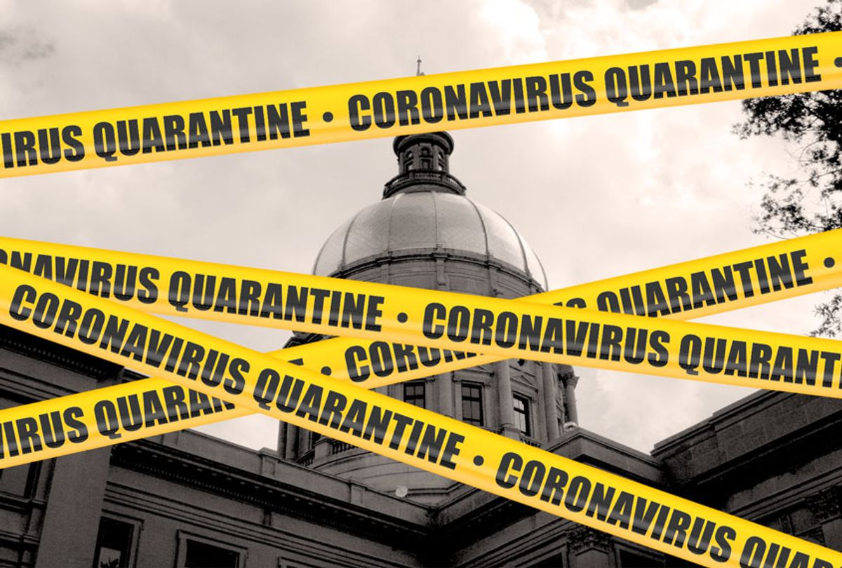 Georgia State Capitol under quarantine (Getty Images/Salon)
