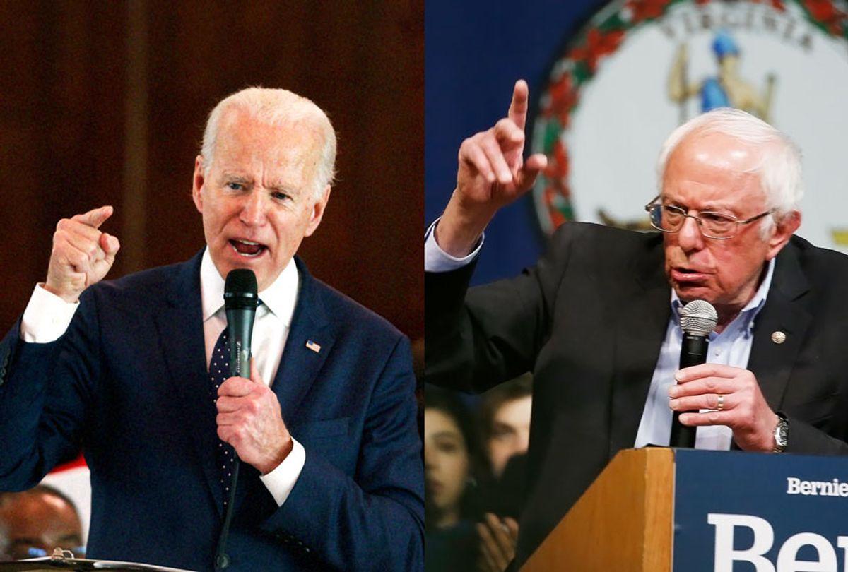 Joe Biden and Bernie Sanders (AP Photo/Salon)
