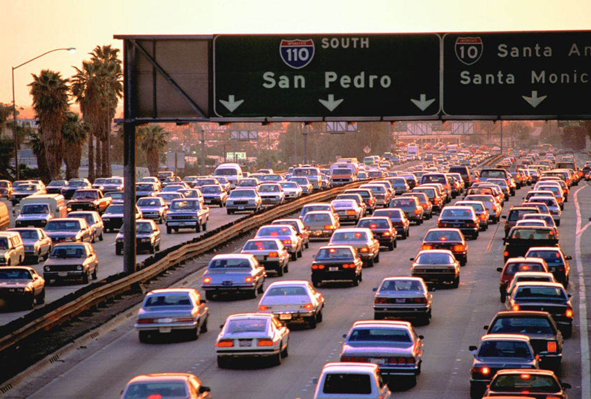 USA, California, Los Angeles, traffic on the freeway (Getty Images)