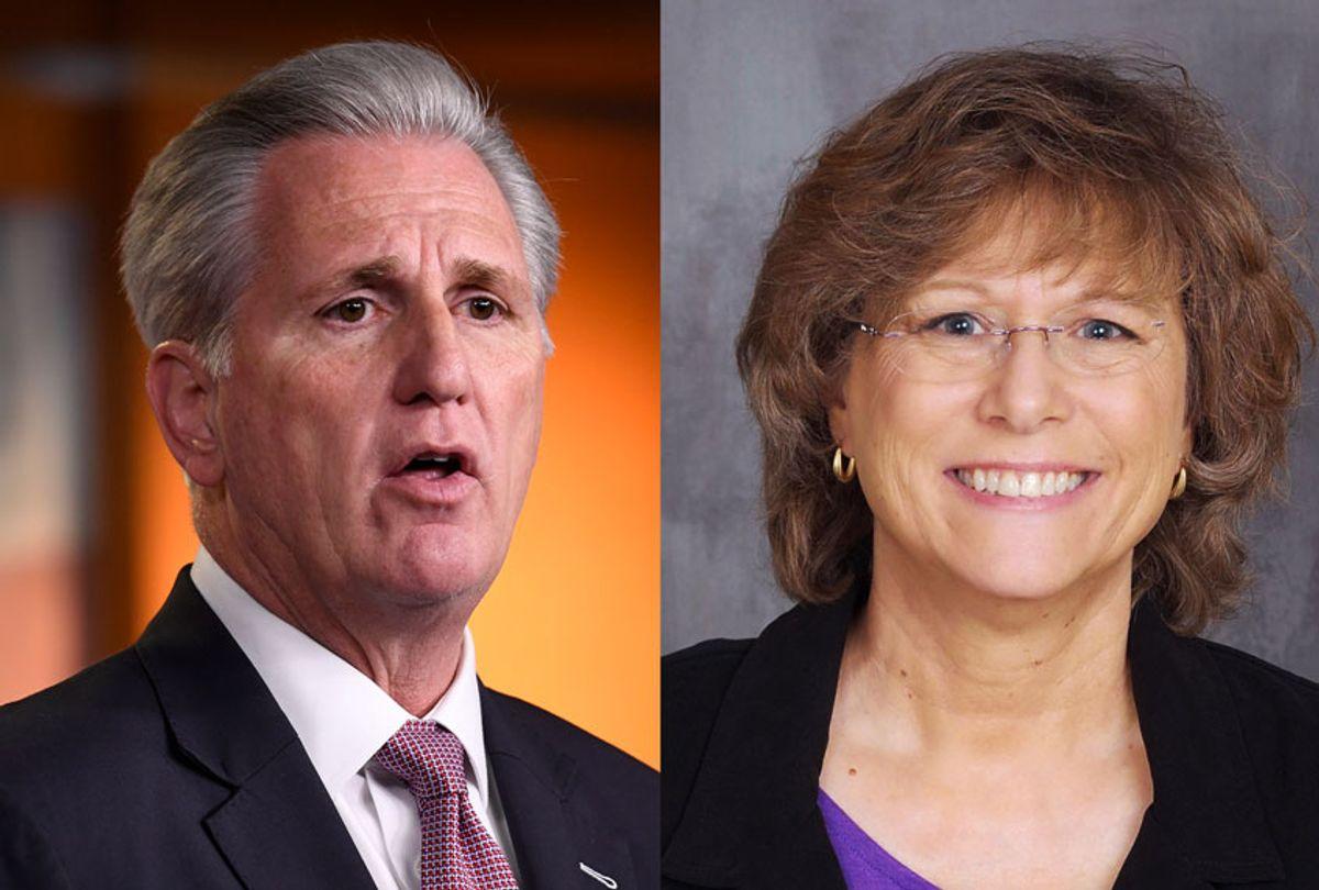 Kevin McCarthy and Kim Mangone (AP Photo/Susan Walsh/Kim Mangone Official Campaign)