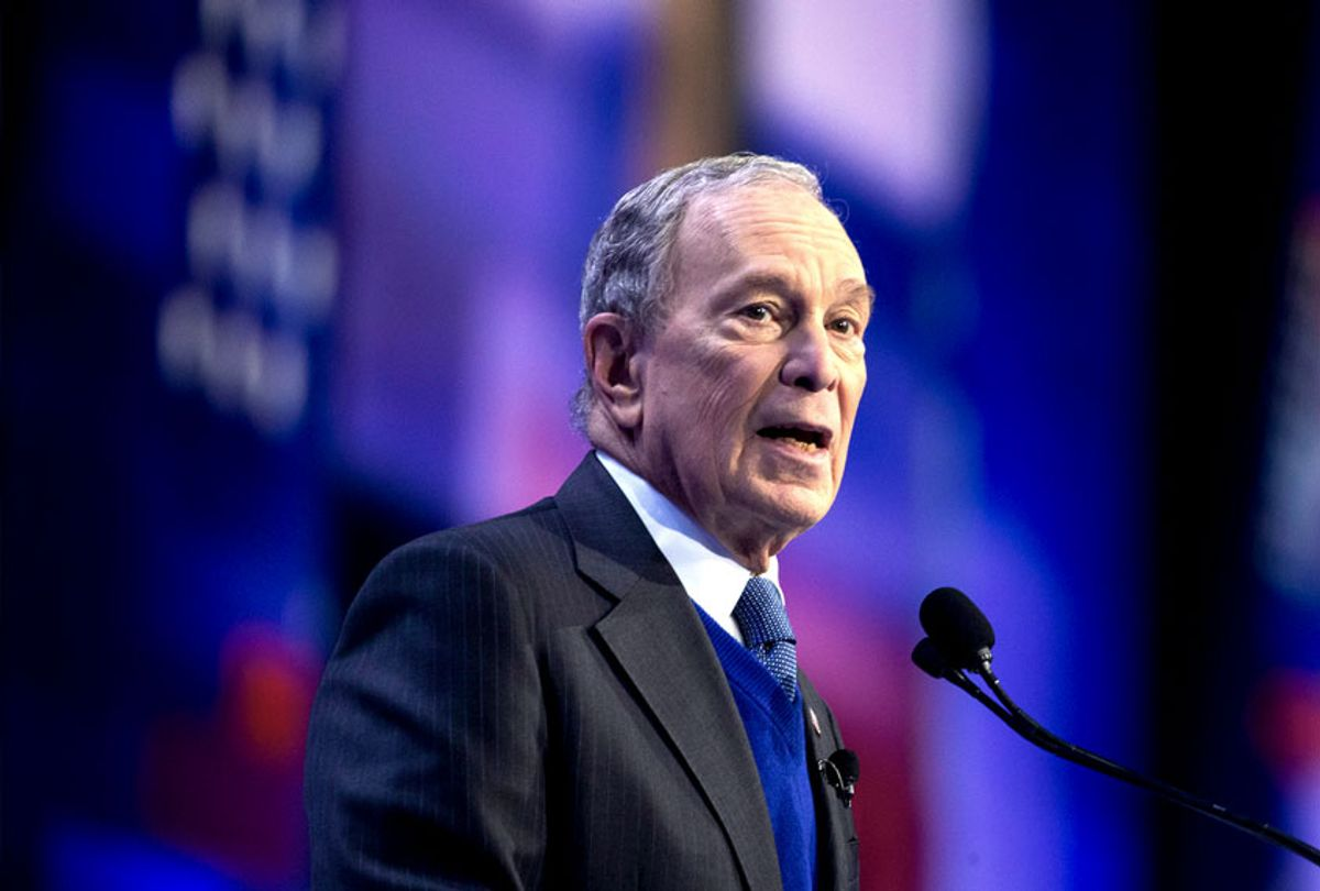 Democratic presidential candidate and former New York City Mayor Mike Bloomberg speaks at the American Israel Public Affairs Committee (AIPAC) 2020 Conference, Monday, March 2, 2020, in Washington. (AP Photo/Alex Brandon)