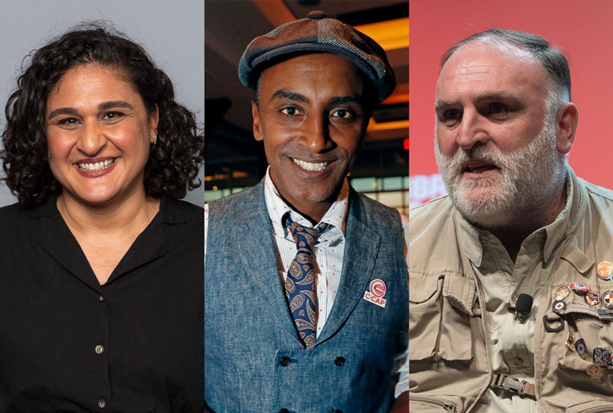 Chef and writer Samin Nosrat, Chef Marcus Samuelsson, and Chef and restaurant owner Jose Andres (AP Photo/Cliff Owen/Kathy Willens/Willy Sanjuan/Invision/AP/Salon)