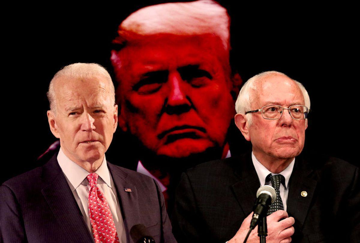 Joe Biden, Bernie Sanders, and Donald Trump (AP Photo/Salon)