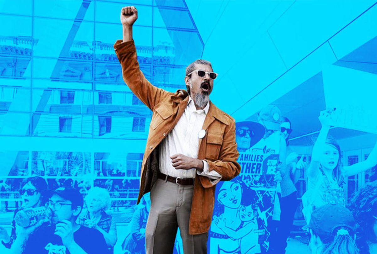 Shahid Buttar at a rally (Shahid Buttar 2020 Campaign)