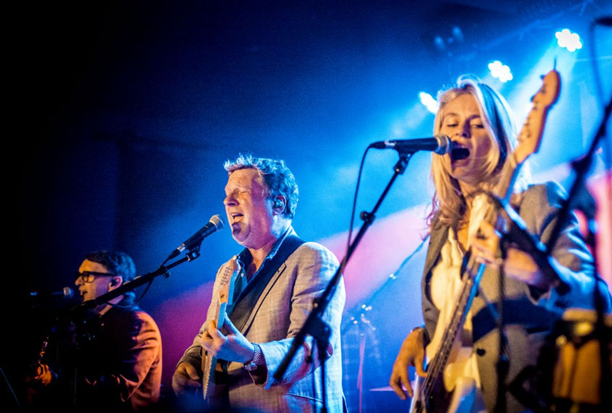 Glenn Tilbrook, Chris Difford and Lucy Shaw of Squeeze performs at Oslo on JUNE 08, 2016 in London, England.  (Venla Shalin/Redferns)