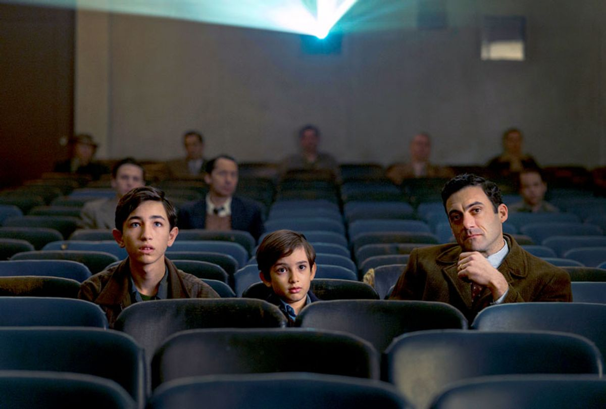 """Caleb Malis, Azhy Robertson, and Morgan Spector in """"The Plot Against America""""  (Michele K. Short/HBO)"""