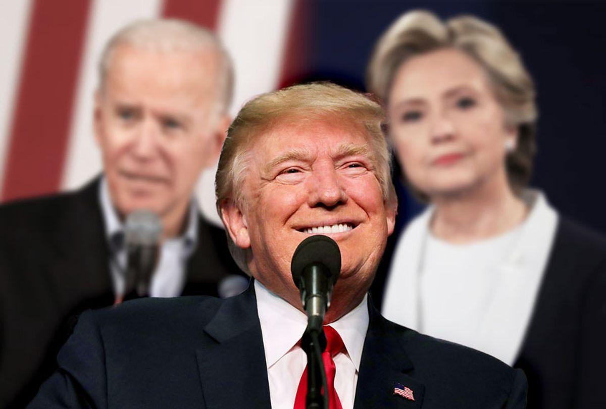 Donald Trump, Joe Biden and Hillary Clinton (Getty Images/ Salon)