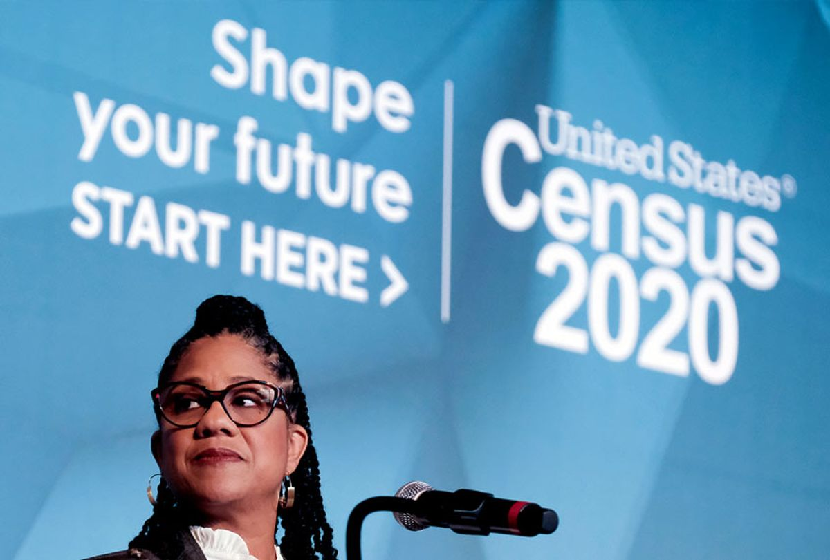 U.S. Census Bureau Executive Director Kendall Johnson speaks at an event to unveil the national advertising and outreach campaign for the 2020 Census, at the Arena Stage, Tuesday, Jan. 14, 2020, in Washington. (AP Photo/Michael A. McCoy)