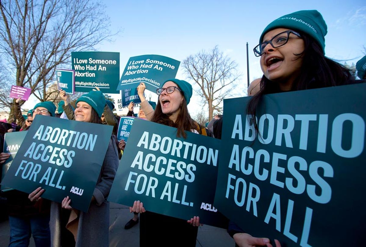 Abortion rights demonstrators (AP Photo/Jose Luis Magana)