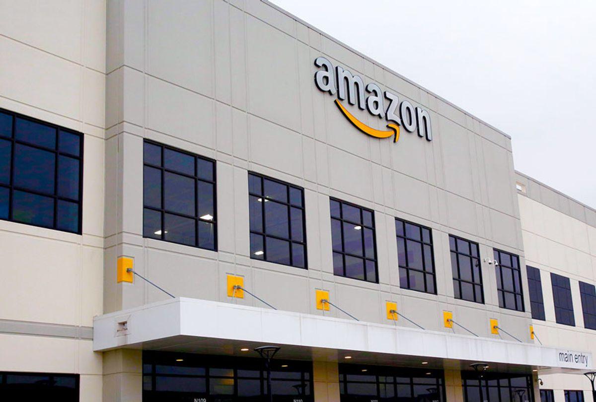 Amazon fulfillment center on Staten Island, in New York (AP Photo/Kathy Willens)