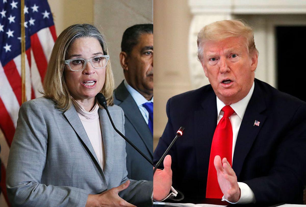 Carmen Yulin Cruz, Mayor of San Juan Puerto Rico and US President Donald Trump (Mark Wilson/Getty Images/AP Photo/Alex Brandon/Salon)
