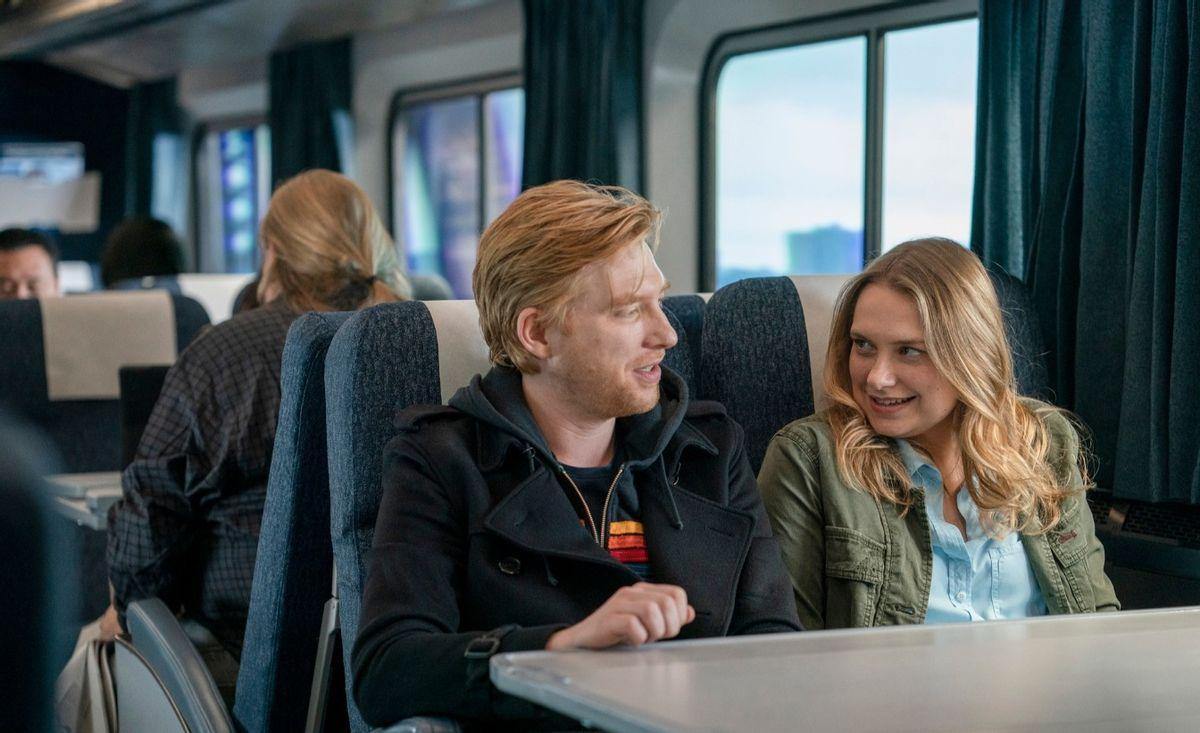 """Domhnall Gleeson and Merritt Wever in """"Run"""" (Ken Woroner/HBO)"""