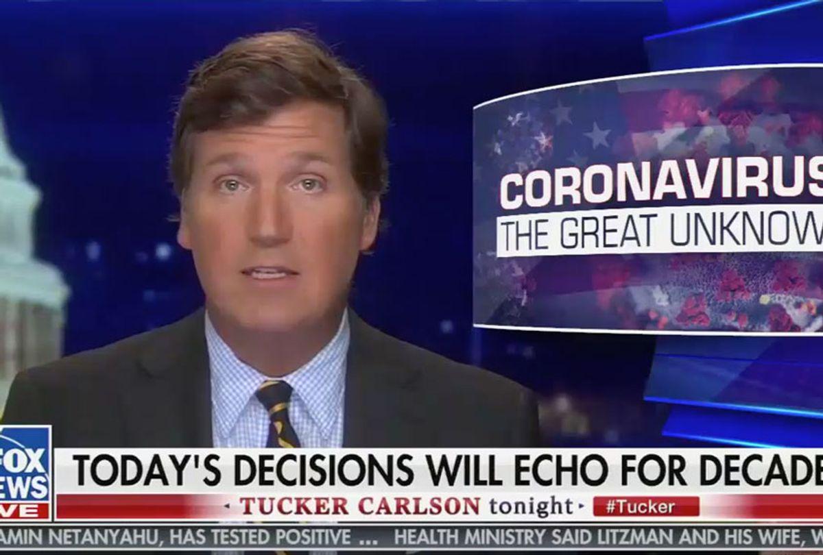 """Tucker Carlson on """"Tucker Carlson Tonight"""" (Fox News)"""