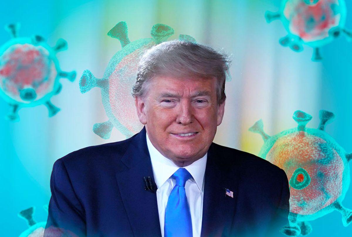 Donald Trump, happy about the novel Coronavirus (Photo illustration by Salon/Getty Images/AP Photo)