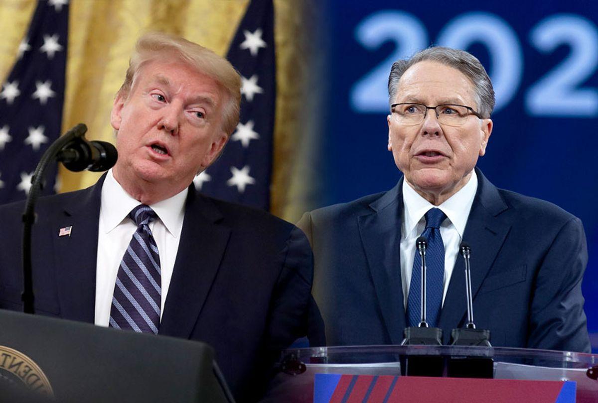 Donald Trump and Wayne LaPierre (Getty Images/AP Photo)