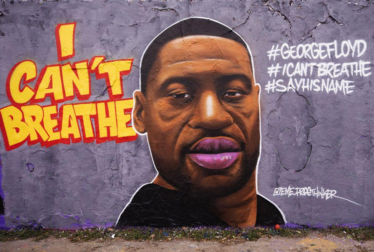 Mural of George Floyd, who died in police custody in Minneapolis (Abdulhamid Hosbas/Anadolu Agency via Getty Images)