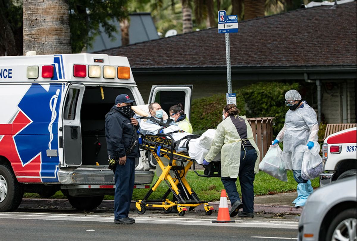 Patients and staff test positive for coronavirus at nursing homes (Gina Ferazzi / Los Angeles Times via Getty Images)