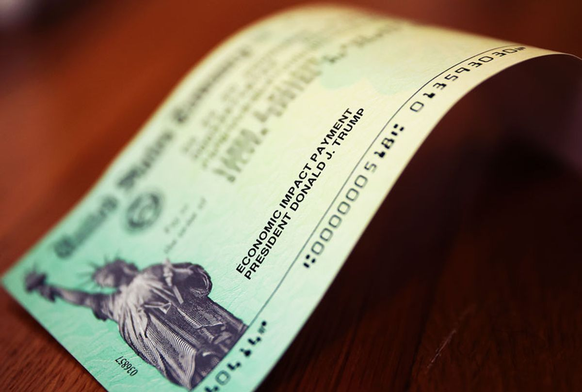 Coronavirus economic assistance checks that were sent to citizens across the country (Chip Somodevilla/Getty Images)